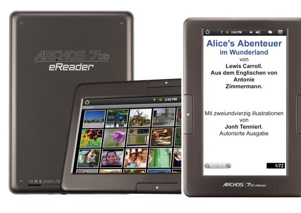 Archos 70b Ereader Lcd Reader Tablet Lesennet