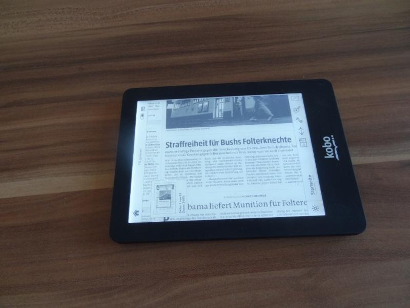 kobo e reader reads pdf