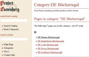 Kostenlose eBooks beim Project Gutenberg