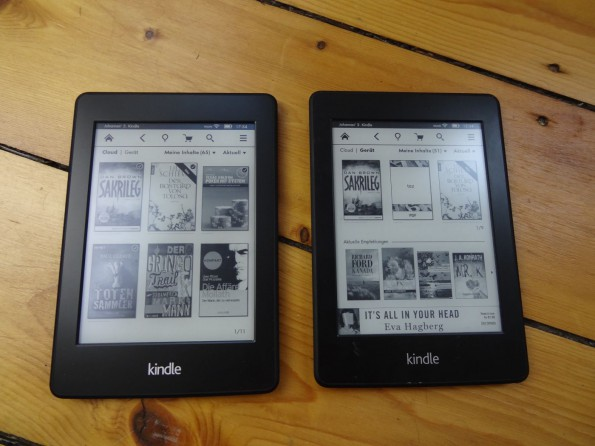 Neuer Kindle Paperwhite links