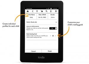 Einstellungen bei Kindle FreeTime