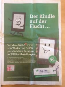 Werbeanzeige von Thalia in der SZ