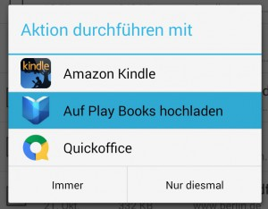Das neue Upload-Feature in Aktion