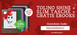 15 Euro Rabatt plus gratis eBooks: Tolino Shine bei Thalia