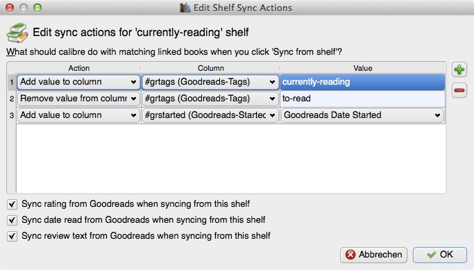 """Regal """"currently-reading"""", """"Shelf Sync Actions"""""""