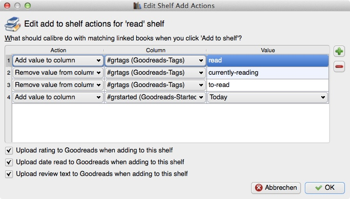 """Rgeal """"read"""", """"Shelf Add Actions"""""""