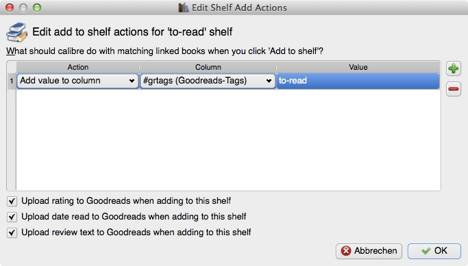 """Regal """"to-read"""", """"Shelf Add Actions"""""""