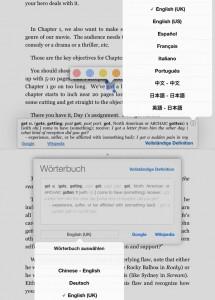 Alte (oben) und neue Wörterbuch-Oberfläche.
