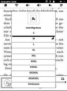 font sizes of ImCoSys imcov6l