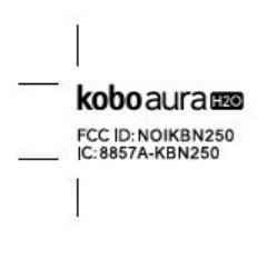 FCC-Zertifizierung des Kobo Aura H2O