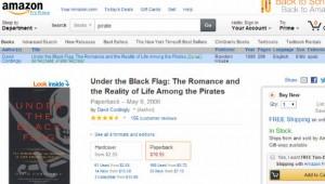 Amazon.com mit blauer Piratenleiste