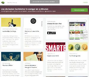 Katalog-Startseite von Blinkist