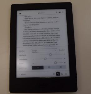 Textanpassung auf dem Kobo Aura H2O