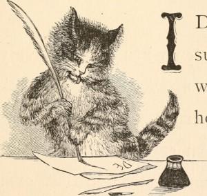 "Endlich auch im Netz: Abbildungen aus dem Klassiker ""Letters from a cat"" (1880) (Quelle)"