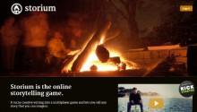 Startseite von Storium