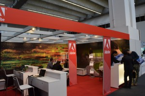 Adobe-Stand auf der Frankfurter Buchmesse 2014