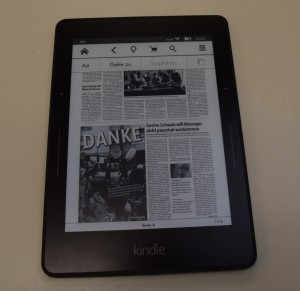 "PDF-""Optionen"" des Kindle Voyage"