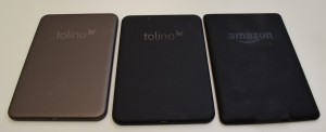 Tolino Vision 1, Tolino Vision 2, Kindle Paperwhite 2 (von links)