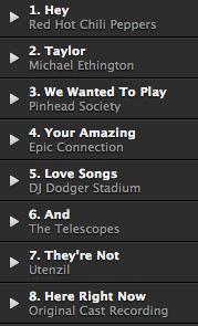 Botschaft von Spotify als Playlist