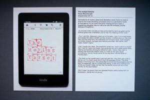 eBook Karte: Vorne selbstgestaltetes Cover, hinten Inhaltsauszug