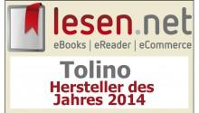 award tolino hersteller des jahres 2014 feature