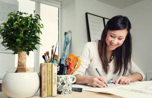 Johanna Basford in ihrem Atelier (privat)