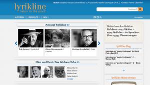 Startseite von lyrikline.org