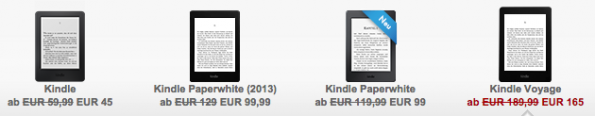 Aktionspreise der Kindle-Familie