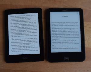 Kindle Voyage links, Vision 3 HD rechts (100% Beleuchtung)