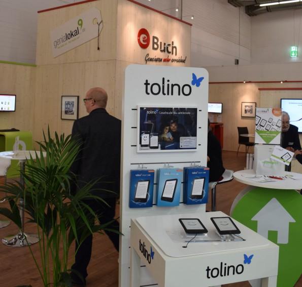 Abgesehen von der bei Amazon ausgestellten Kindle-Hardware und einem Pocketbook-Stand waren in den Messehallen nahezu ausschließlich eBook Reader der Tolino-Allierten sichtbar.