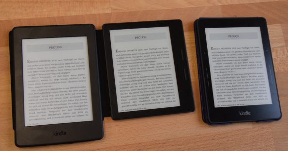 Ohne Beleuchtung Kindle Paperwhite 3 Oasis Voyage Von Links