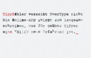 overtype buchstaben