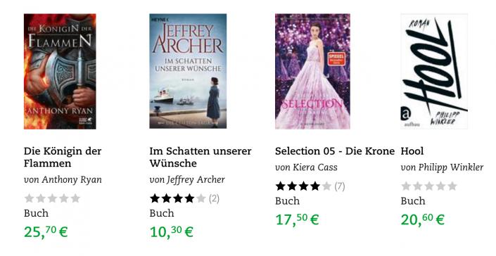 Buchpreise in Österreich