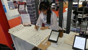 Der Gemeinschaftsstand von China illustrierte besonders schön, wie alt und neu Hand in Hand gehen kann.