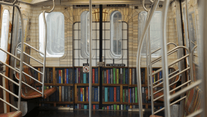 Blick in einen umgestalteten U-Bahn-Wagen
